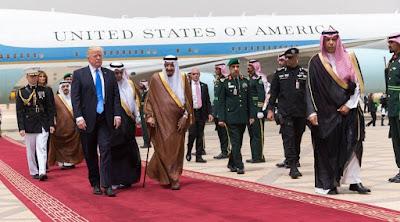 Donald Trump in Riyadh, Saudi Arabia. PHOTO | courtesy AFP