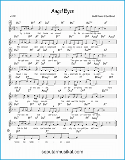 chord angel eyes lagu jazz standar