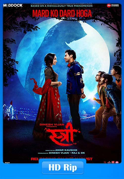 Stree 2018 Hindi 720p WEB-DL x264 | 480p 300MB | 100MB HEVC Poster