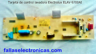 tarjeta electrónica lavadora electrolux