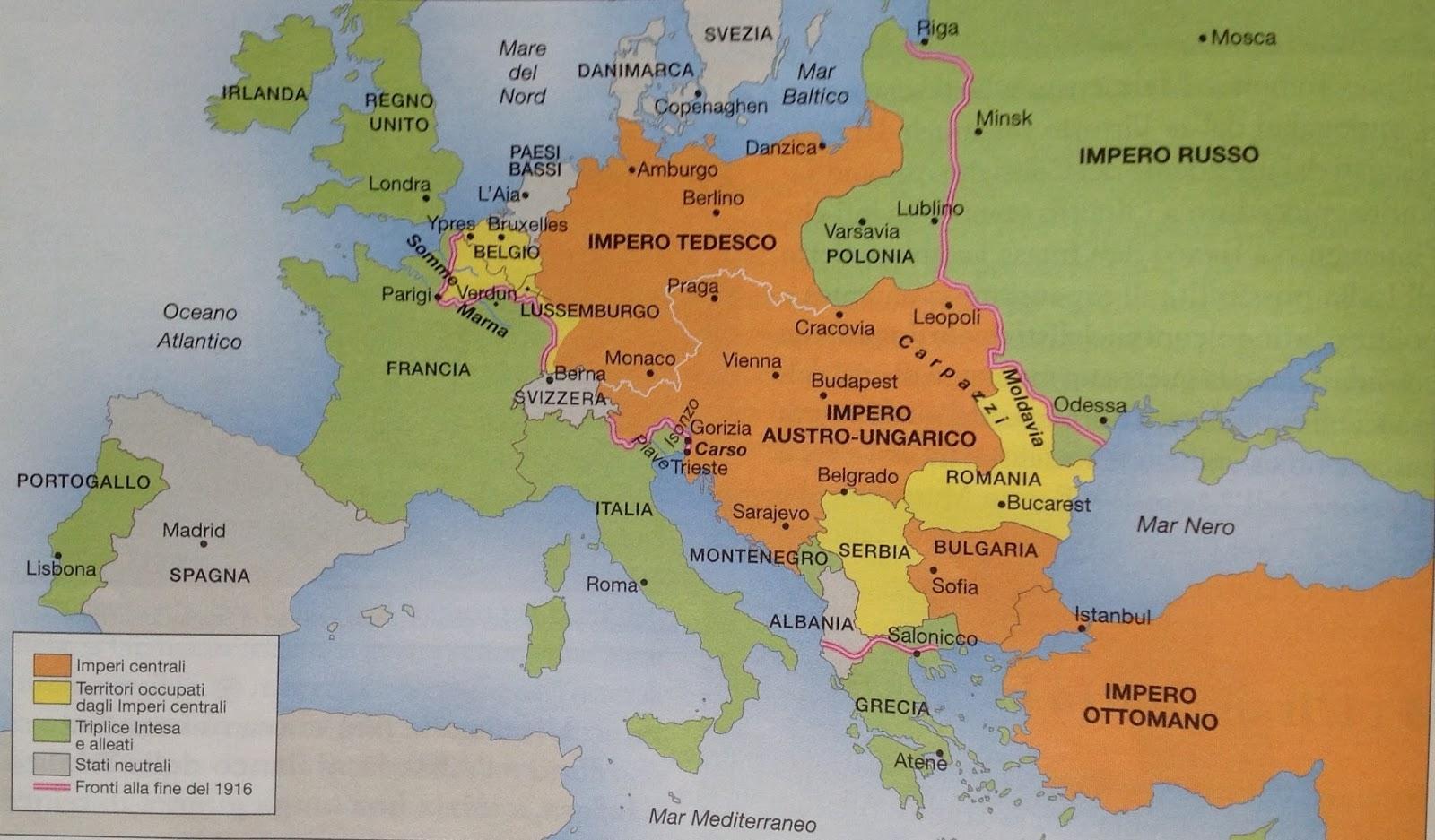 La Prima Guerra Mondiale Cartina.Prima Guerra Mondiale Lessons Blendspace