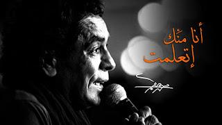 انا منك اتعلمت محمد منير يا حبيبتي مانتي السبب