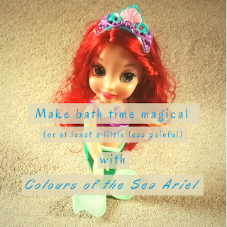 Make bathtime magical (or at least less painful) with Colours of the Sea Ariel: We review the Colours of the Sea Ariel Toddler Doll from Jakks Pacific. And we like it. Well, she does, I'm fairly ambivalent about dolls but I am almost 33.