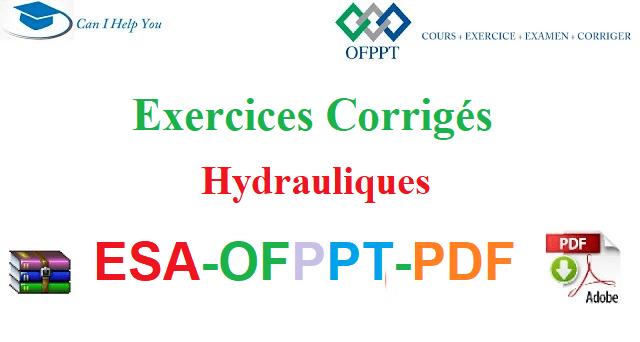 Exercices Corrigés Hydrauliques Électromécanique des Systèmes Automatisés-ESA-OFPPT-PDF