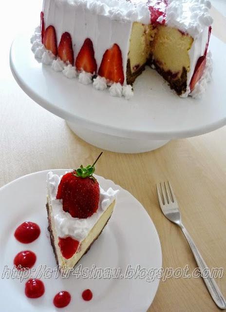 Strawberry Zebra Cake Recipe