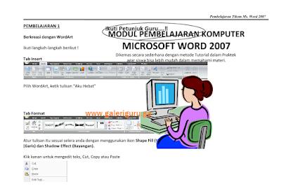 Download Contoh Modul TIKOM Kelas 4 Format Word