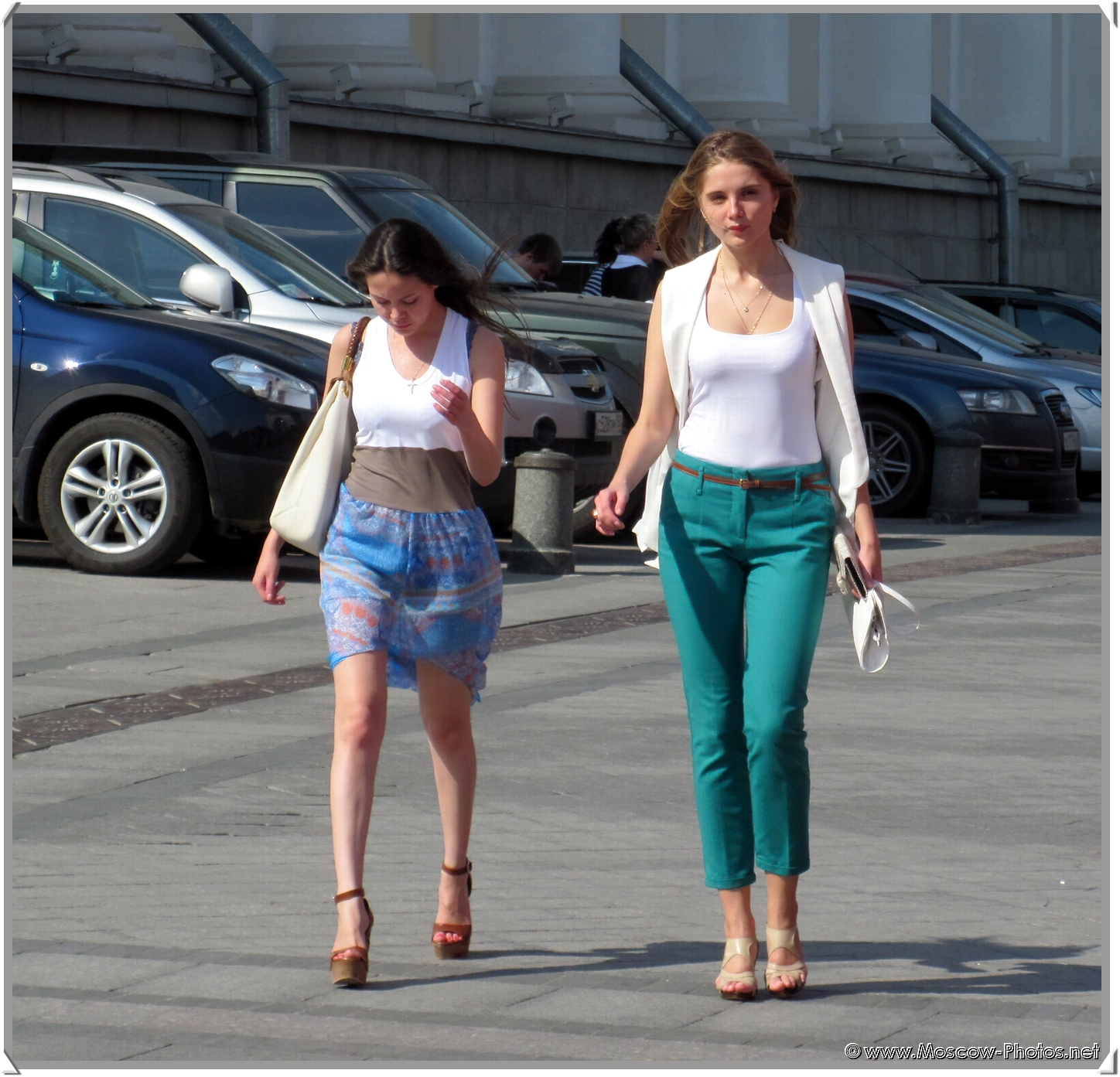 Moscow Girls on the Street