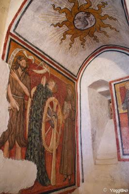 I begli affreschi del Martirio di Santa Caterina nel castello di Serralunga