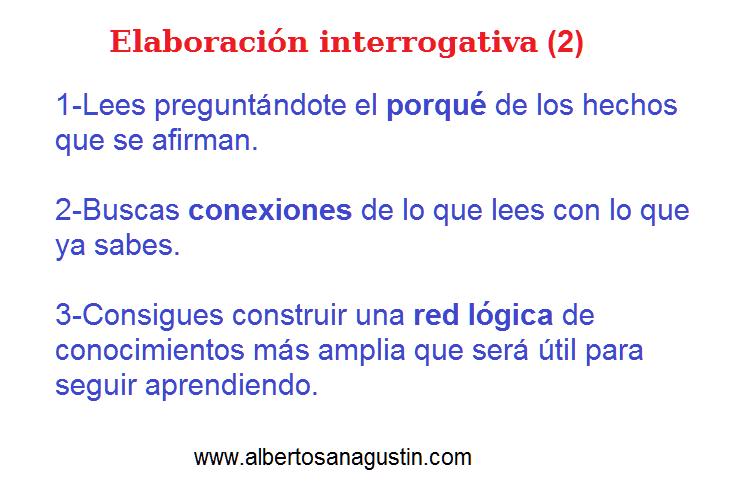 elaboración interrogativa, elaborative interrogation
