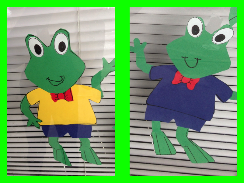 Froggy Window Display for Literacy Week