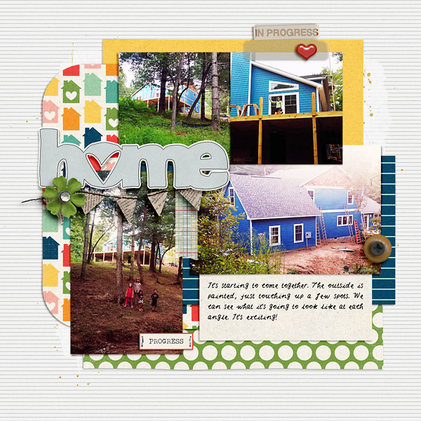 Home: Scrapbook Page by Scrapping with Liz