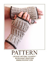 how to crochet, crochet patterns, fingerless mittens, crochet for men,