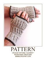 crochet patterns, mittens, man, men, fingerless,