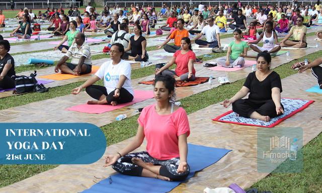 International Yoga Day - 21st June - Himachal Pariksha