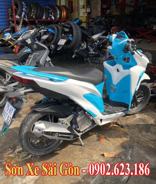 Mẫu Xe Honda Vario sơn phối màu xanh trắng cực đẹp