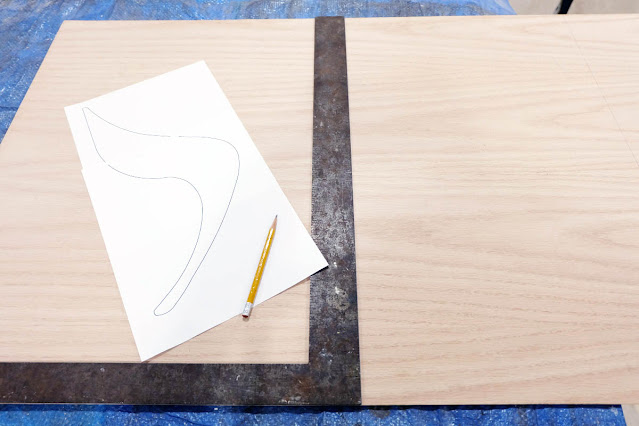 plywood cutout template paper shape