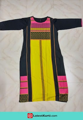 LATEST MULTI-COLOURED WOMEN'S A-LINE KURTA