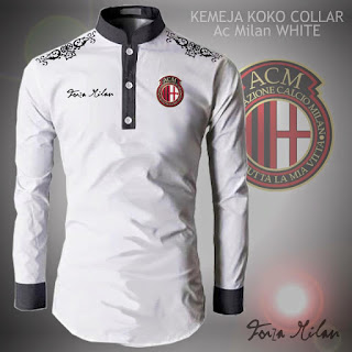 Baju Koko Muslim Bola AC Milan