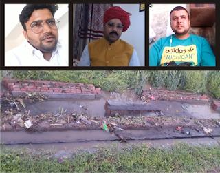 गोली गांव में नाले को न्यूनतम समय में दुरुस्त करने के दिए गए निर्देश - डॉ वीरेंद्र सिंह चौहान