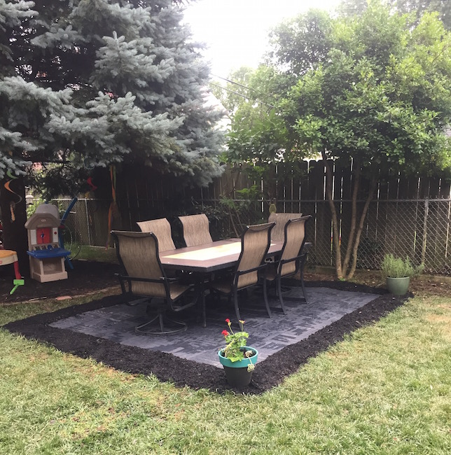 EASY DIY Recycled Rubber Patio - First Time Mom and Dad