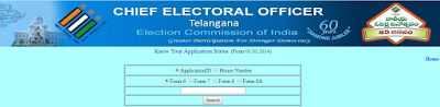 Search Telangana Voter ID Card Status