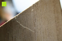 Risse: Eurosell Holz Schreibtischorganizer Brief Post Ablage Briefablage Postablage Briefständer Vintage Retro Design Designer Dokumenten Prospekte Ständer
