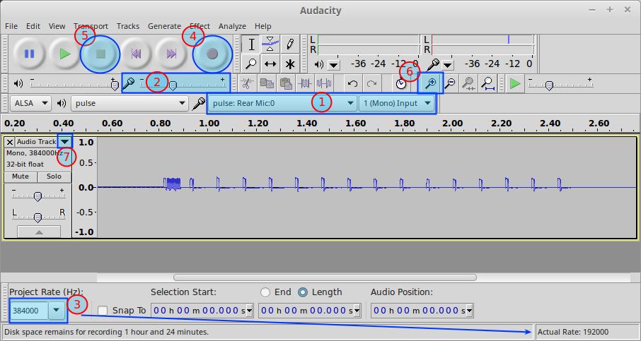 Audacity IR remote recording - screenshot