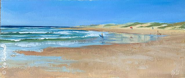 Strand Dünen Pleinairmalerei