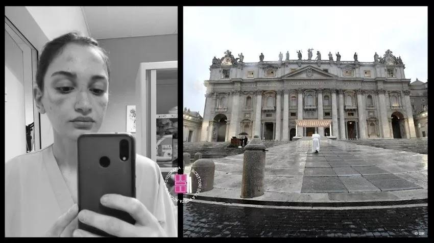 Alessia Bonari e il Papa che prega solo.