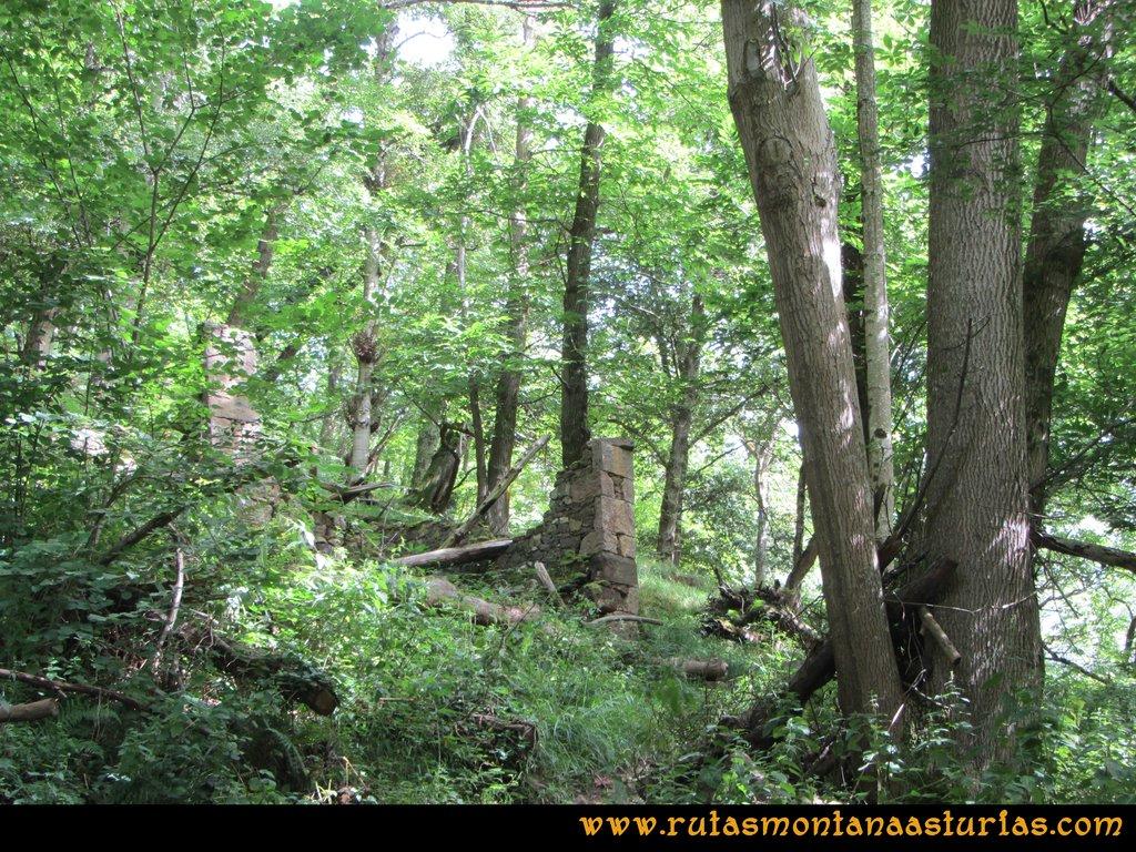 Ruta Cascadas Guanga, Castiello, el Oso: Restos de un molino