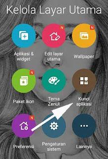 Cara Mengunci Aplikasi WA di Hp Asus Dengan Pola Tanpa Aplikasi