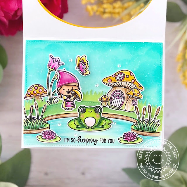 Sunny Studio Stamps: Country Scenes Feeling Froggy Home Sweet Gnome Everyday Card by Mayra Duran-Hernandez
