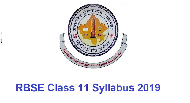RBSE 11th Syllabus 2019
