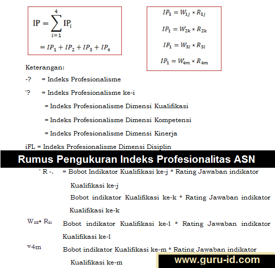 gambar Rumus Pengukuran Indeks Profesionalitas ASN