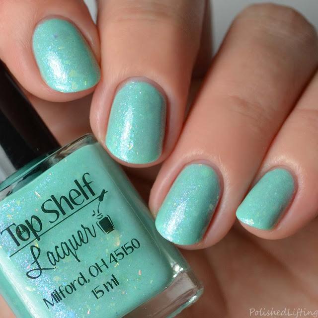 mint flakie nail polish