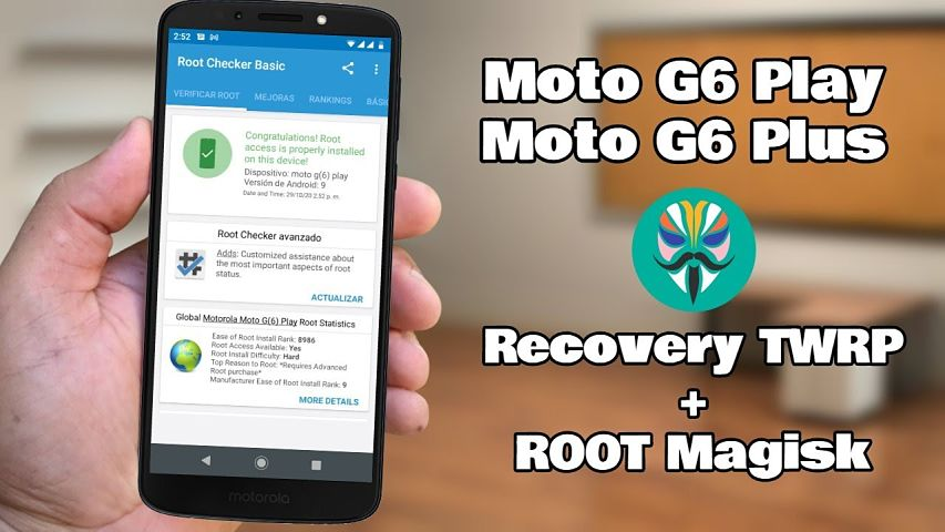 Root Moto G6 Play y Moto G6 Plus Android 9.0