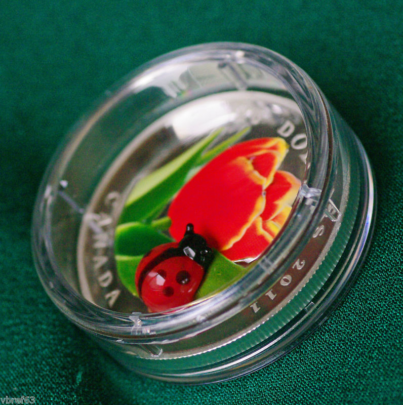 northern numismatics 2011 canada silver 20 tulip with. Black Bedroom Furniture Sets. Home Design Ideas