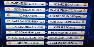 Hasil Drawing Babak 16 Besar Liga Champions 2013-2014