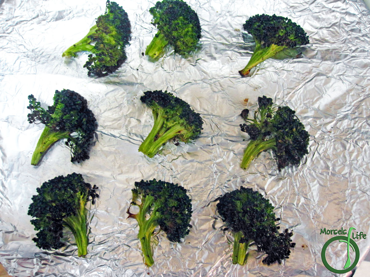 Morsels of Life - Roasted Broccoli - Broccoli, tossed in olive oil and seasonings, and then roasted to scrumptious perfection for one delectable roasted broccoli.