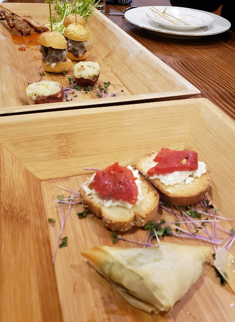 butlered wedding appetizers John Serock Catering