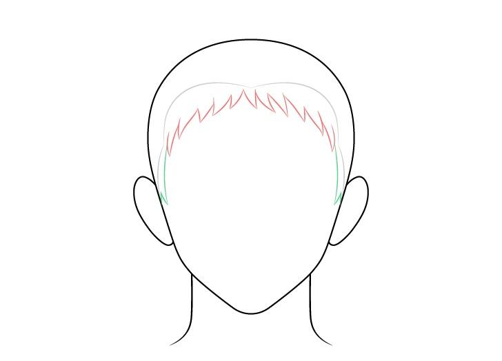 Gambar sisi rambut pria runcing anime