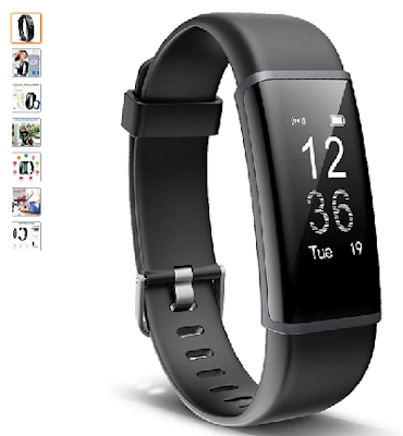 Lintelek Fitness Tracker Heart Rate Monitor, Activity Tracker, Pedometer Watch with Connected GPS