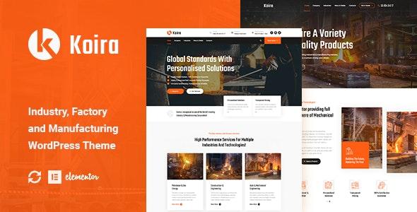 Koira - Industry and Manufacturing WordPress Theme