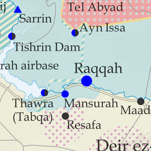 Syrian Civil War map: Territorial control in Syria in late November 2020 (Free Syrian Army rebels, Kurdish YPG, Syrian Democratic Forces (SDF), Hayat Tahrir al-Sham (HTS / Al-Nusra Front), and others). Includes areas of dispersed operational presence for so-called Islamic State (ISIS/ISIL), Turkish/TFSA control, joint SDF-Assad control, US deconfliction zone, and Turkey-Russia security corridor, plus recent locations of conflict and territorial control changes, including Doubayat gas field, Al Karak, Morek, and more. Colorblind accessible.