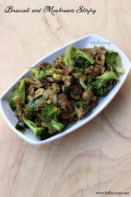 Broccoli and Mushroom Stirfry
