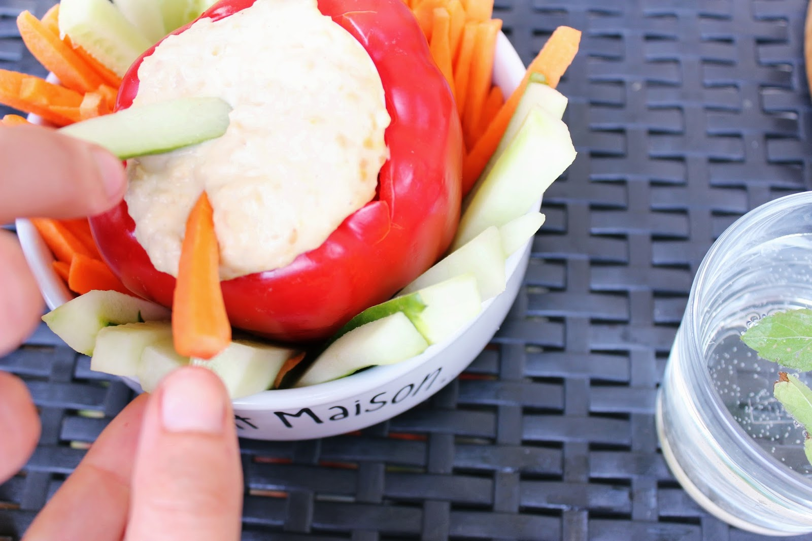 Apéro entre amis vegan healthy