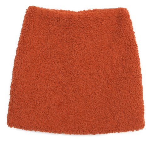 Solid Tone Textured Mini Skirt