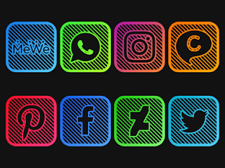 iOS Lines – Neon icon Pack Apk v1.3 [Patched]