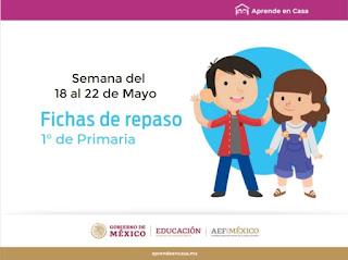 Primaria Fichas para Aprender en Casa semana del 18 al 22 de mayo