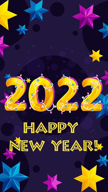 2022 Happy New Year stars background